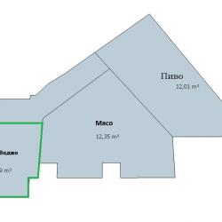 Торговое помещение 6 м2 в прикассовой зоне Магнита на перекрёстке 1
