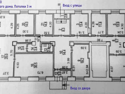 Офис, медцентр, хостел, салон красоты! ПСН 275 м2 ул.Тушинская д.10