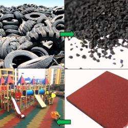 Завод по производству резиновой крошки и плитки 2