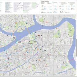 Официальная карта города , занимающаяся рекламой