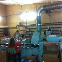Производство  рабочей перчатки ХБ с ПВХ 2