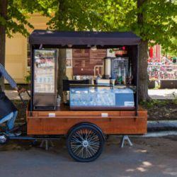 Сеть передвижных велокофеен в парках Москвы 1