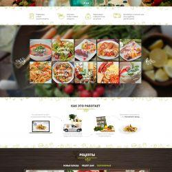 Доставка наборов продуктов с рецептами для блюд ресторанного уровня 1
