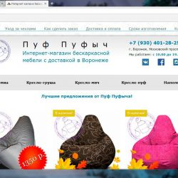 Интернет-магазин бескаркасной мебели 1