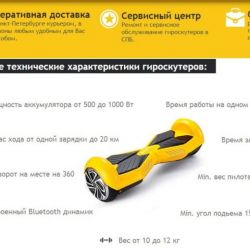 Интернет-магазин гироскутеры + 2 домена