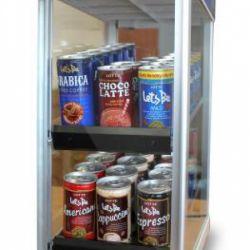 Горячий кофе в банках, напитки, кондитерка