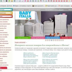 Прибыльный интернет магазин детских товаров 1