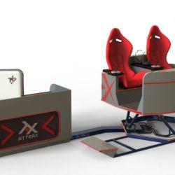 Аттракцион VR для двоих - новейший аппарат на платформе с шестью степенями свободы 3