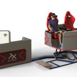 Аттракцион VR для двоих - новейший аппарат на платформе с шестью степенями свободы