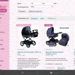 Интернет-магазин детских товаров (2.5 года)