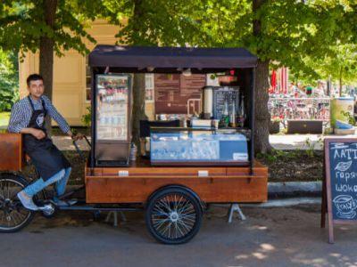 Сеть передвижных велокофеен в парках Москвы