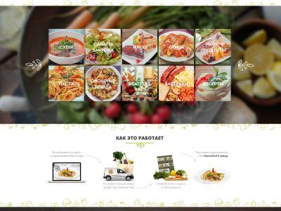 Доставка наборов продуктов с рецептами для блюд ресторанного уровня